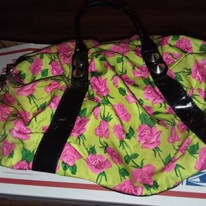 Betsey Johnson Flowered shoulder bag